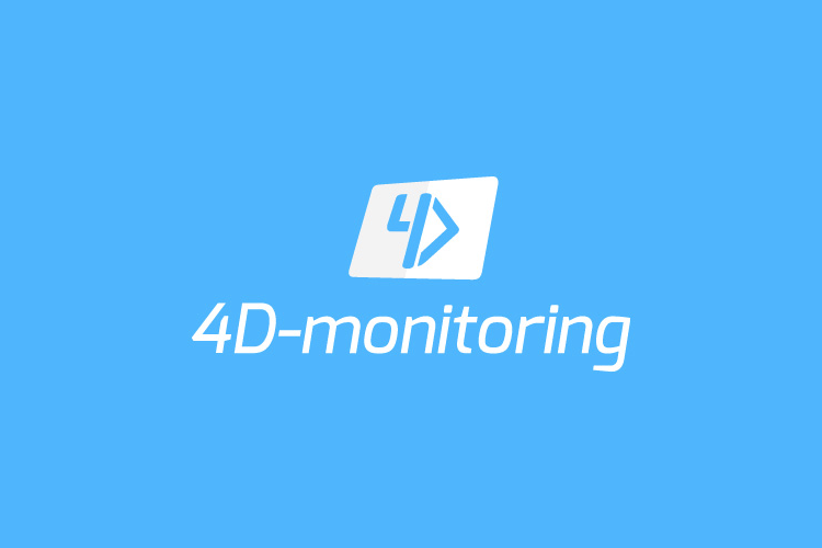 4D-monitoring logotip inverzni