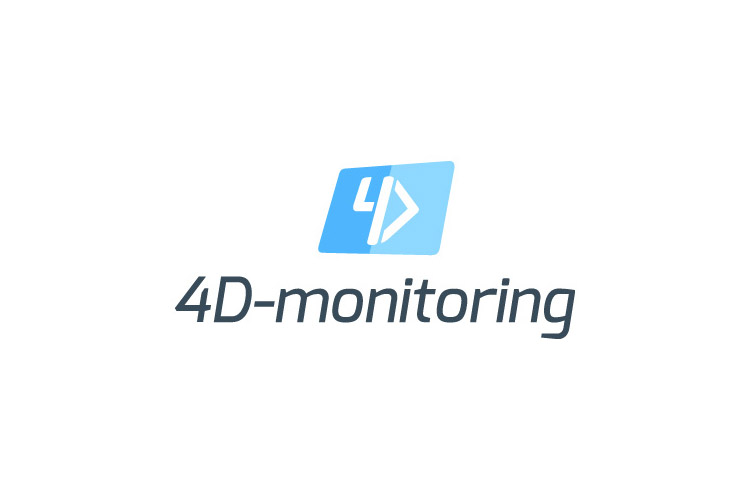 4D-monitoring logo & brand design