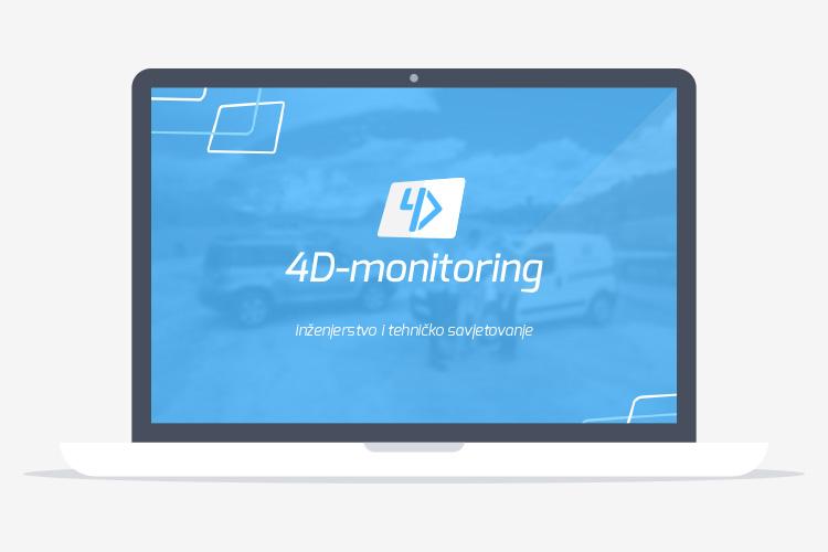 4D-monitoring grafički dizajn prezentacije
