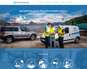 Responzivna Wordpress web stranica 4D-monitoring