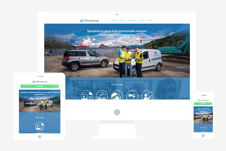 Responzivna web stranica 4D-monitoring