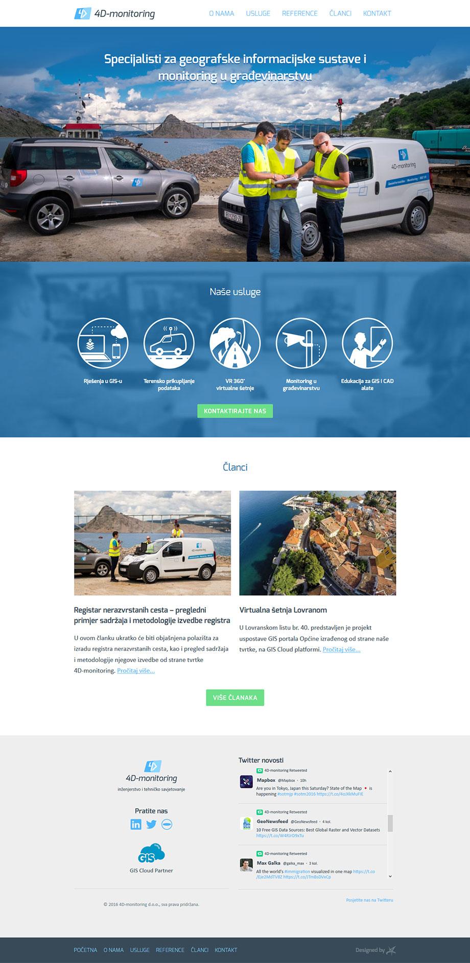 Wordpress web stranica 4D-monitoring