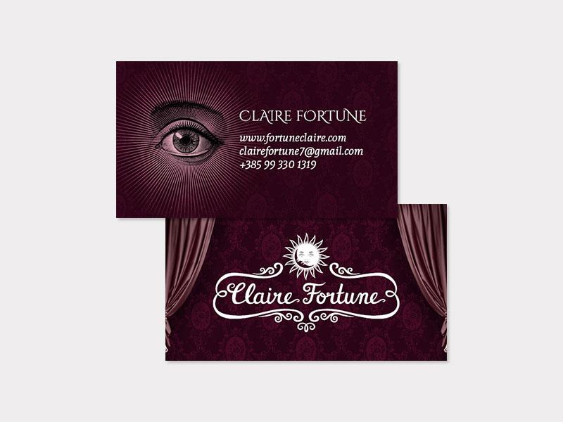 Claire Fortune dizajn posjetnice