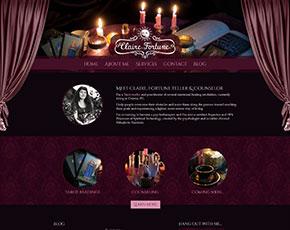 Claire Fortune web stranica
