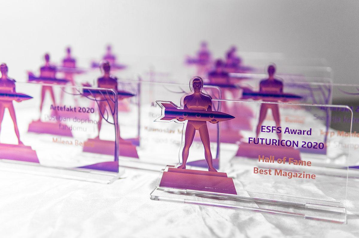 Futuricon vizualni identitet – nagrade ESFS i Artefakt