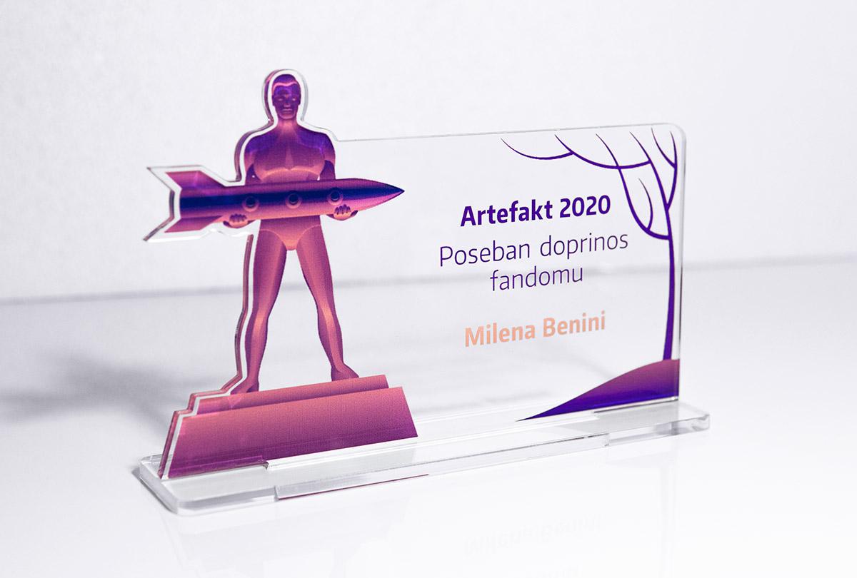 Futuricon vizualni identitet – nagrada Artefakt
