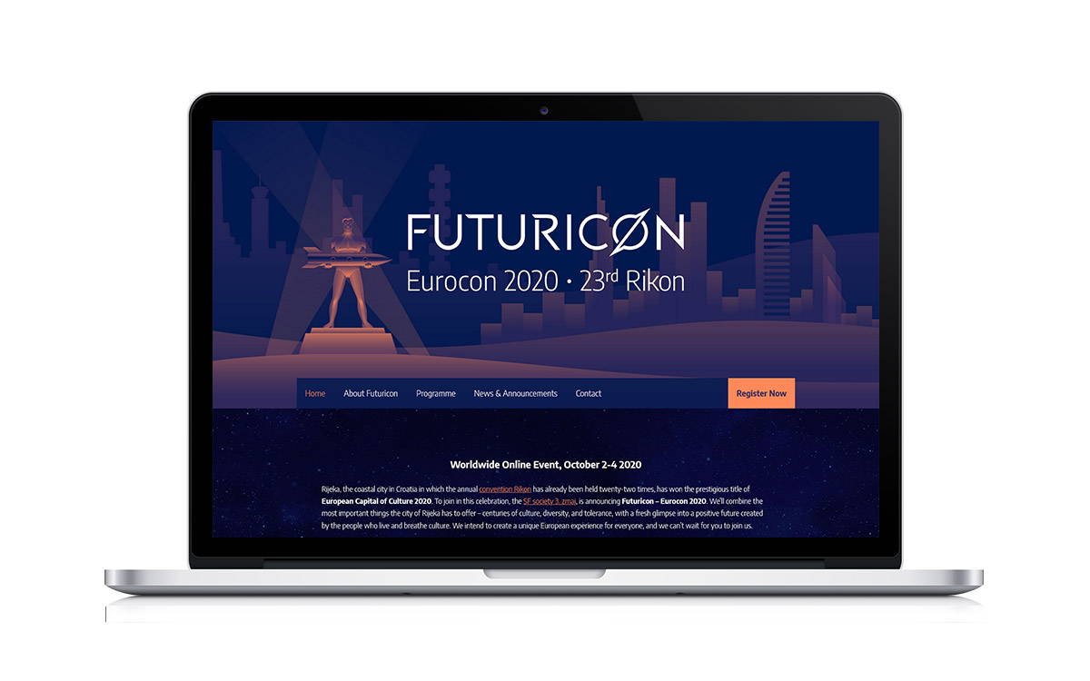 Futuricon vizualni identitet – WordPress web stranica