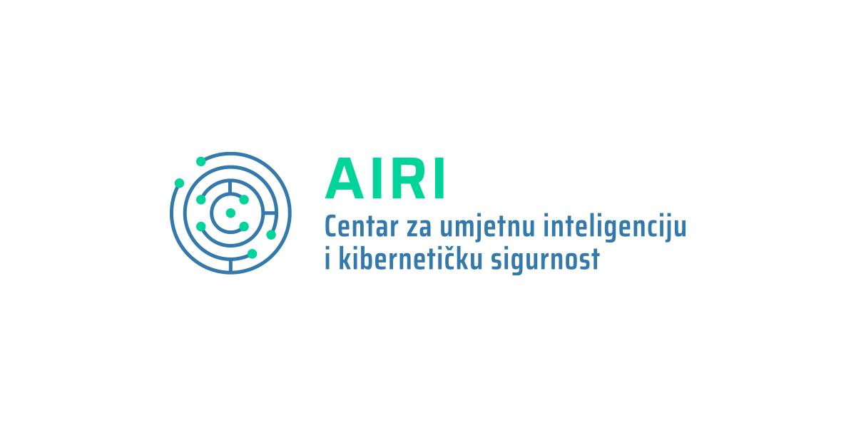 Logotip Centra za umjetnu inteligenciju i kibernetičku sigurnost Sveučilišta u Rijeci