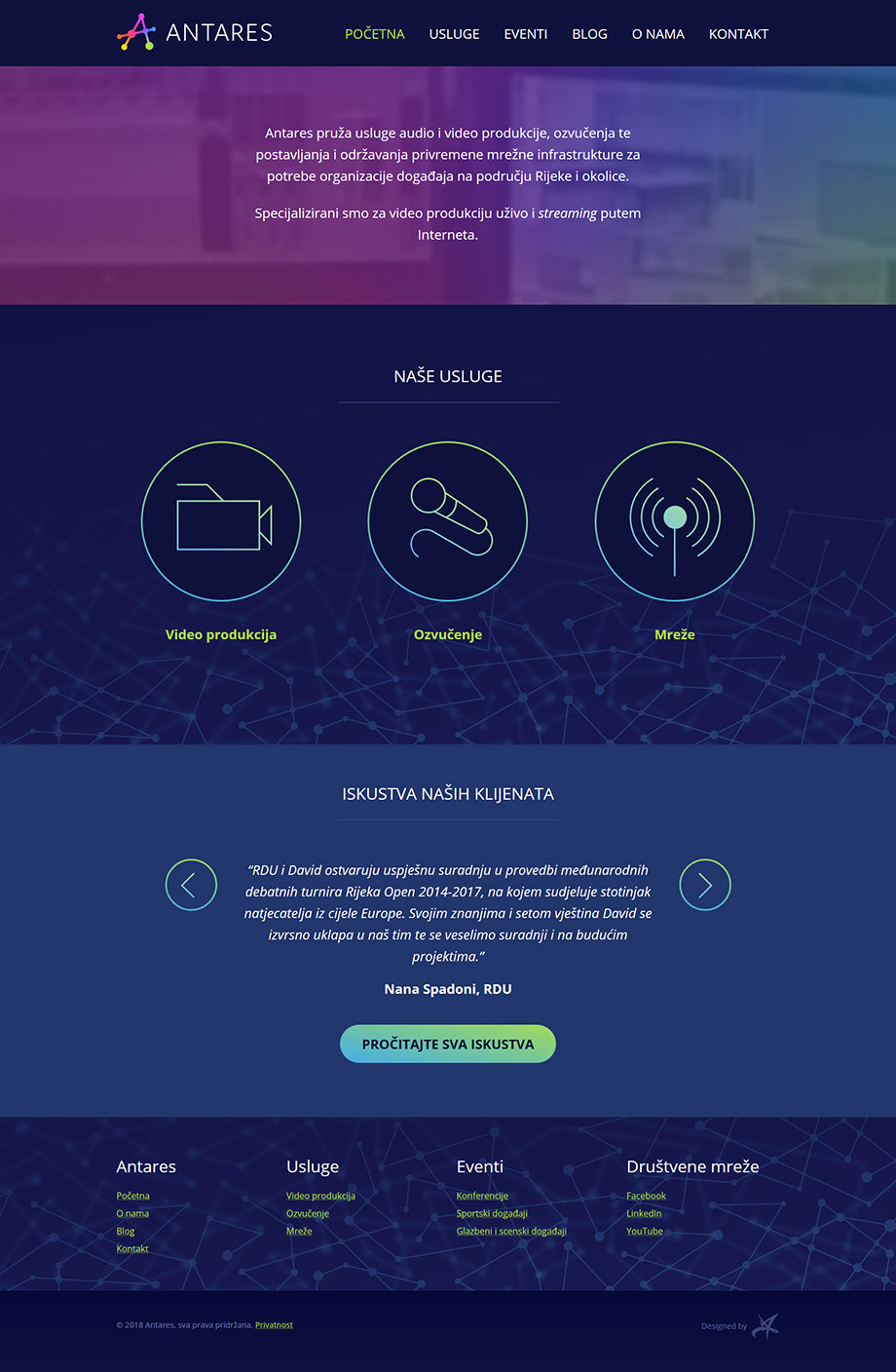 Antares WordPress web stranica