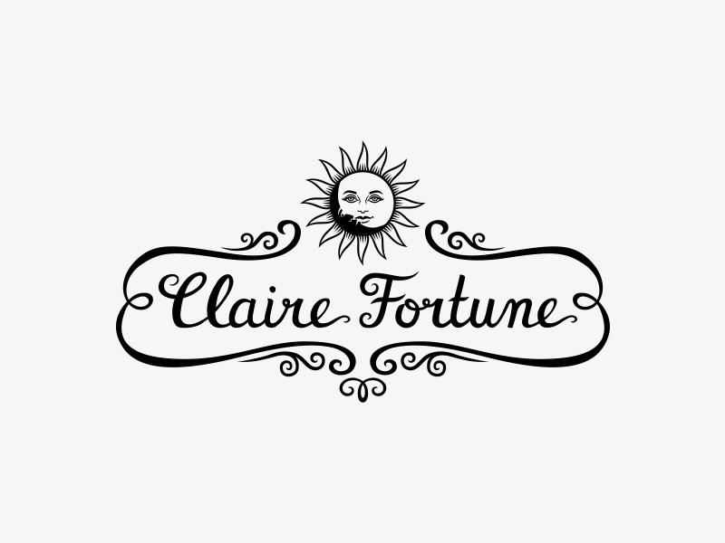Claire Fortune logo crni