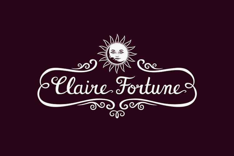 Claire Fortune hand-lettered logo design