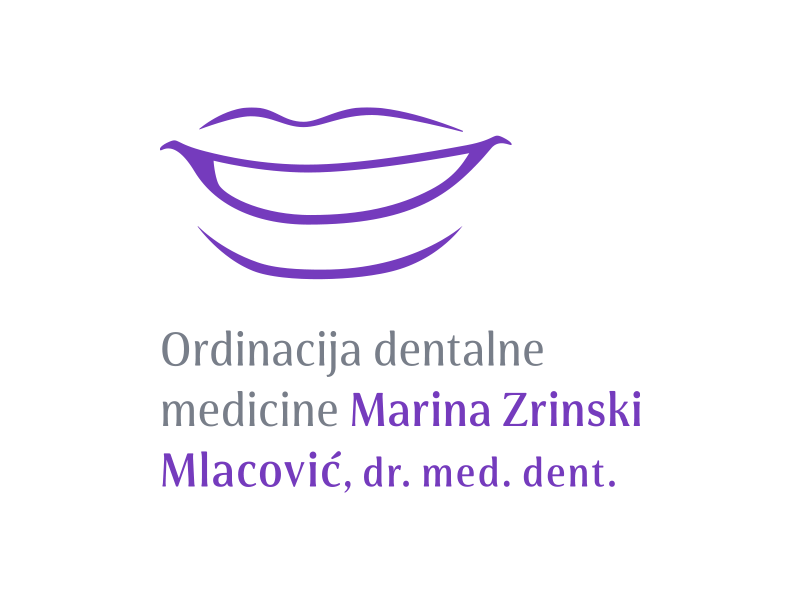 Logotip i vizualni identitet Ordinacije dentalne medicine Marina Zrinski Mlacović, dr.med.dent.