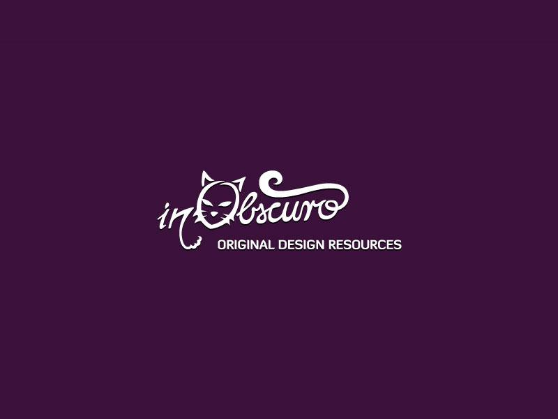 InObscuro logotip sa sloganom