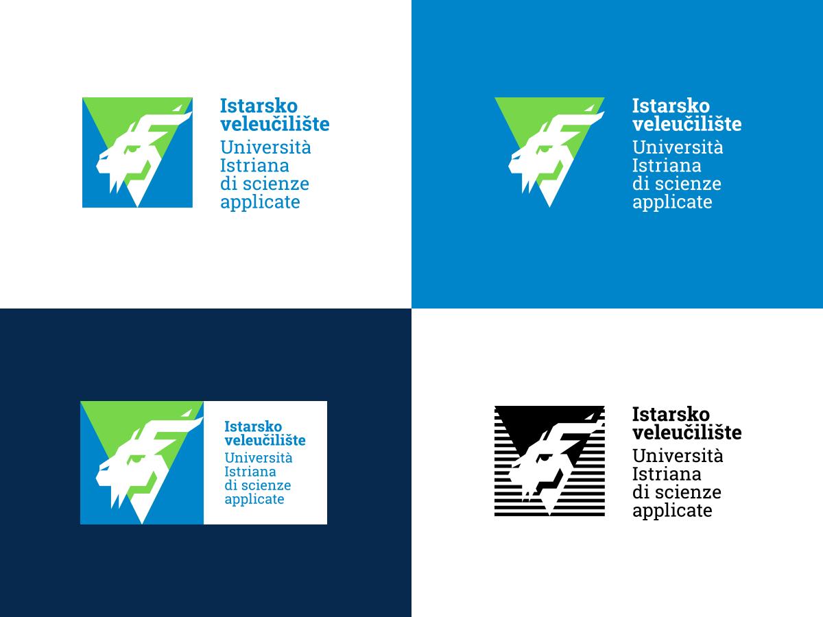 Istarsko veleučilište vizualni identitet - Varijante logotipa