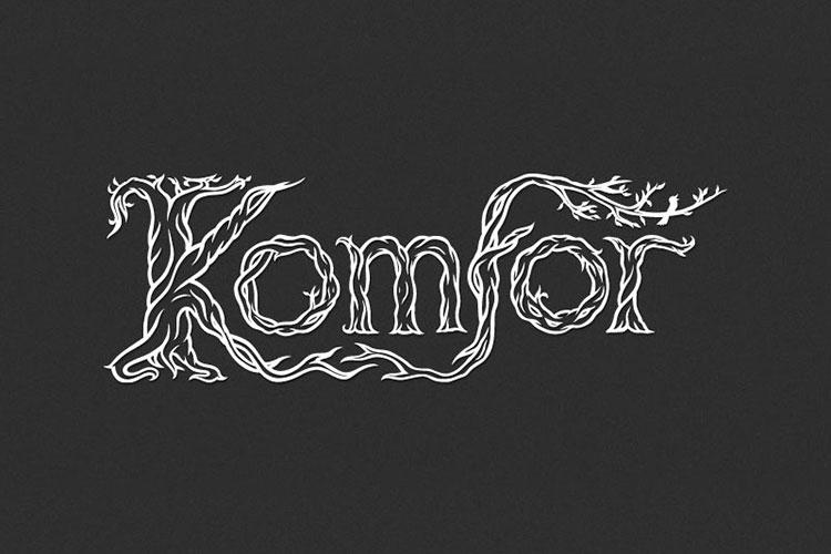 Dizajn logotipa za bend Komfor