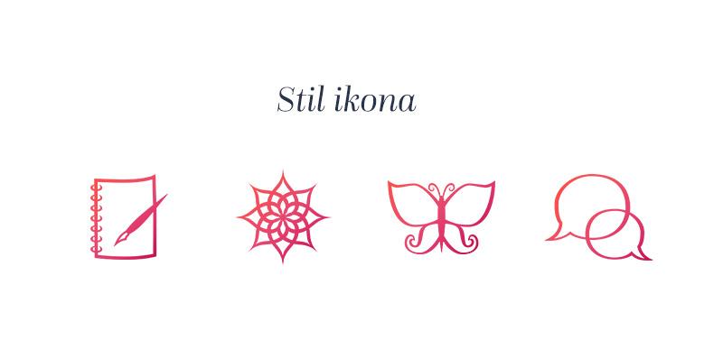 Kreativna vizualni identitet - dizajn ikona