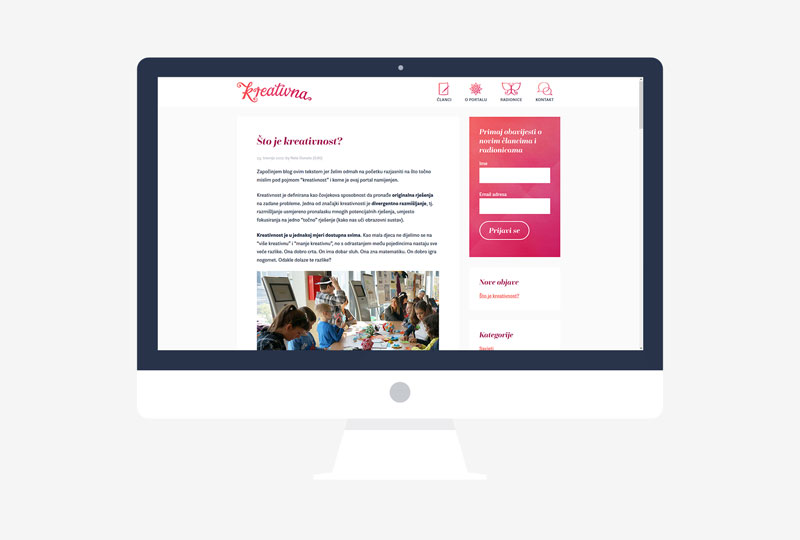 Kreativna vizualni identitet - dizajn responzivne WordPress teme