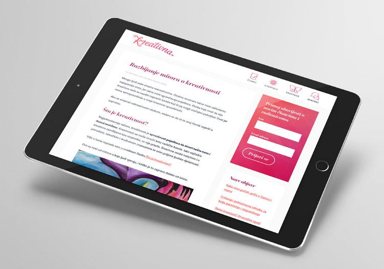 Responzivna WordPress web stranica Kreativna