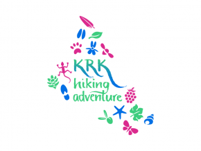 Krk Hiking Adventure logo dizajn