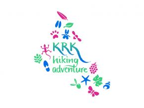 Krk Hiking Adventure logo dizajn