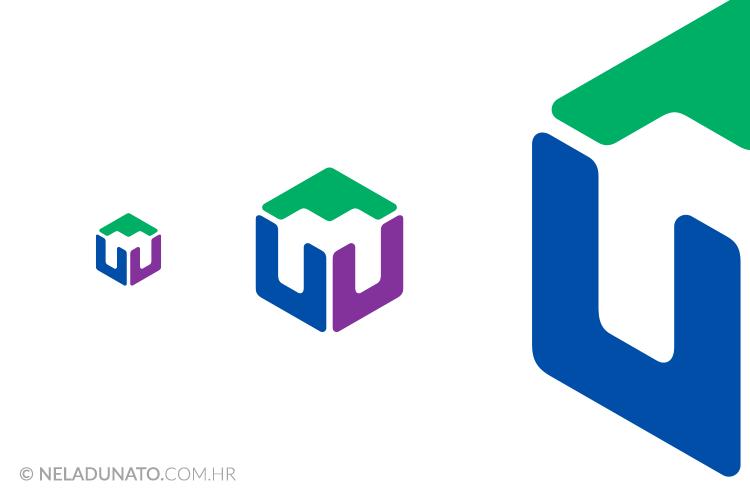 Prikaz vektorskog logotipa u različitim dimenzijama