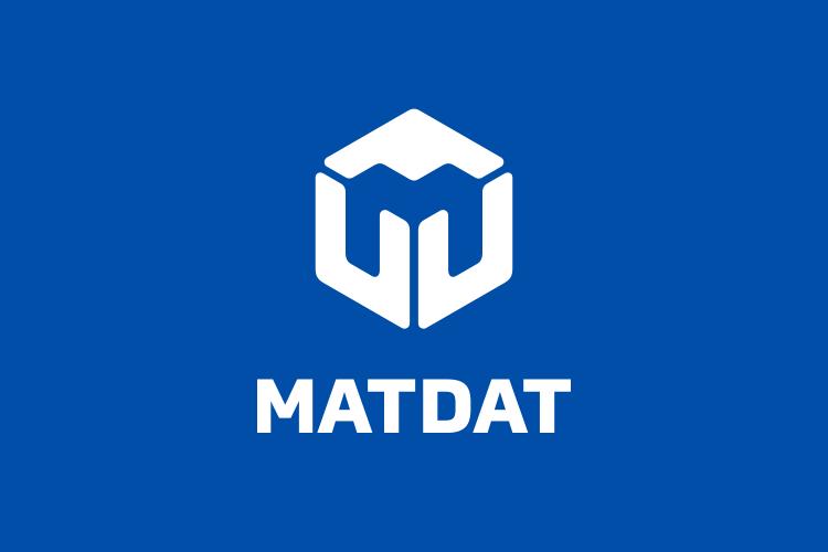 MATDAT logo inverzni