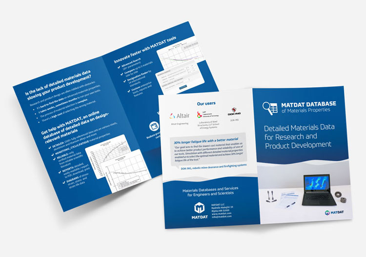 MATDAT vizualni identitet - dizajn brošure