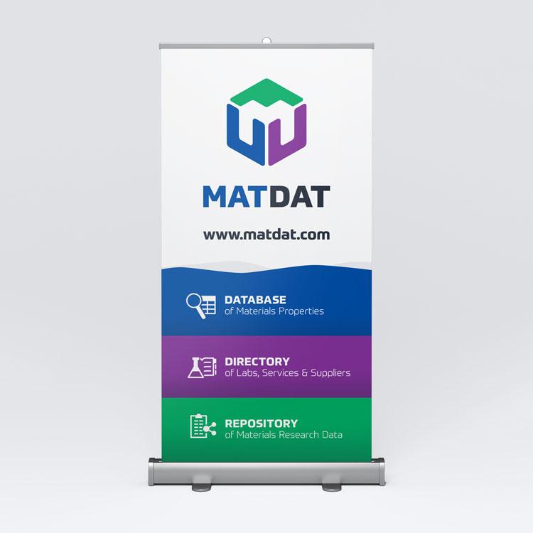 MATDAT vizualni identitet - dizajn rollup bannera