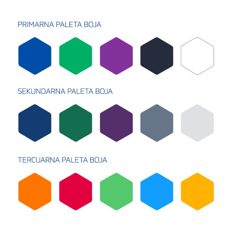 MATDAT vizualni identitet - paleta boja