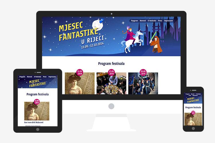 Responzivna web stranica Mjesec fantastike