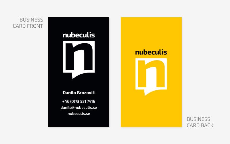 Nubeculis grafički dizajn posjetnice