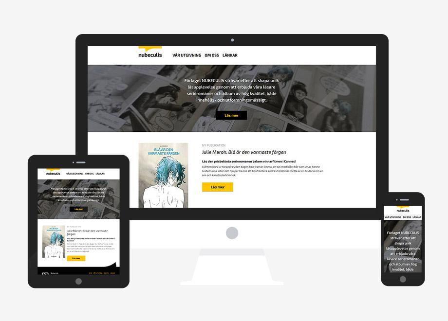 Responzivna WordPress web stranica Nubeculis