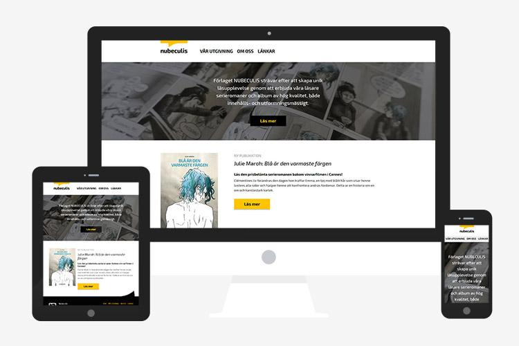 Responzivna web stranica Nubeculis