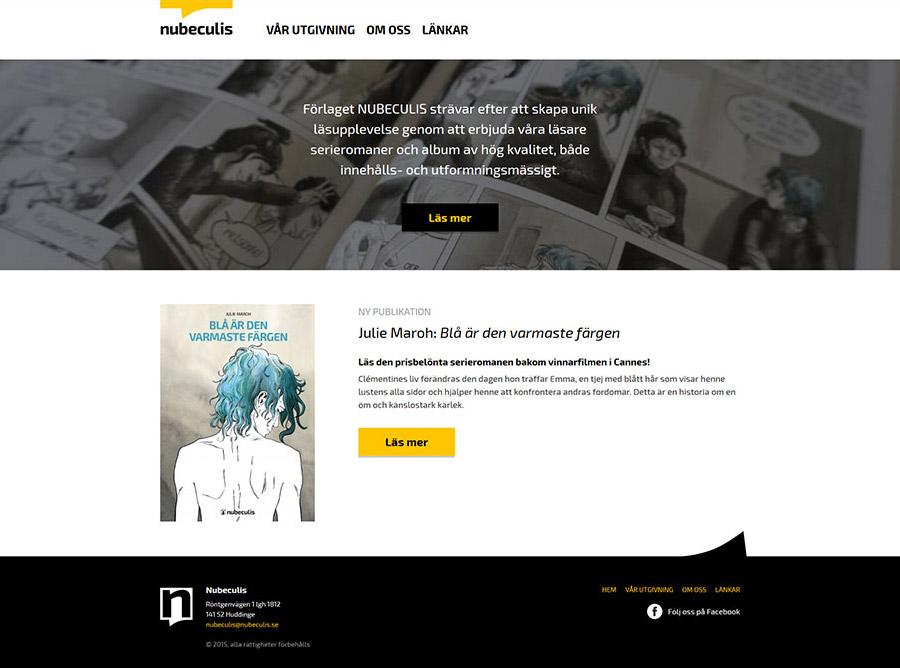 WordPress web stranica Nubeculis