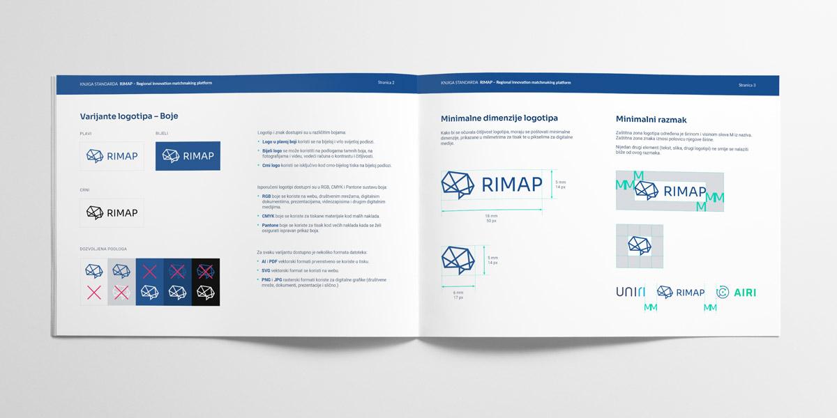 RIMAP vizualni identitet – knjiga standarda