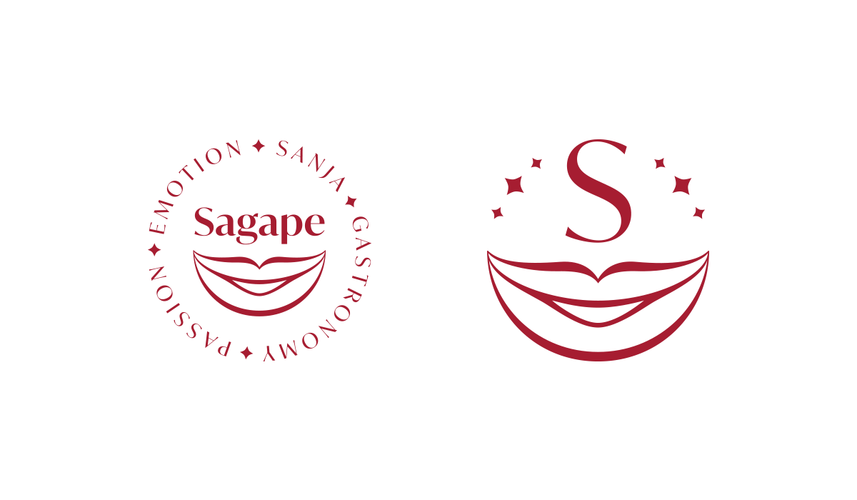 Sagape vizualni identitet - monogram i logotip sa sloganom