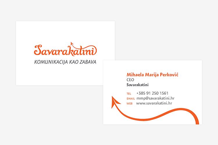 Savarakatini grafički dizajn posjetnice