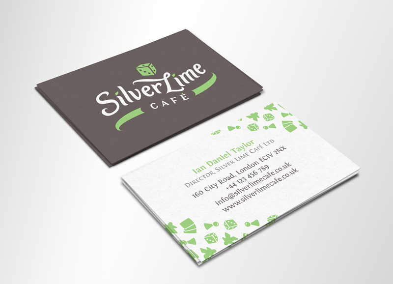Silver Lime Cafe vizualni identitet - dizajn posjetnice