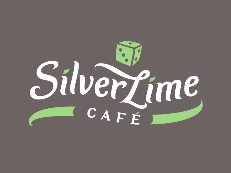 Silver Lime Cafe logotip i vizualni identitet