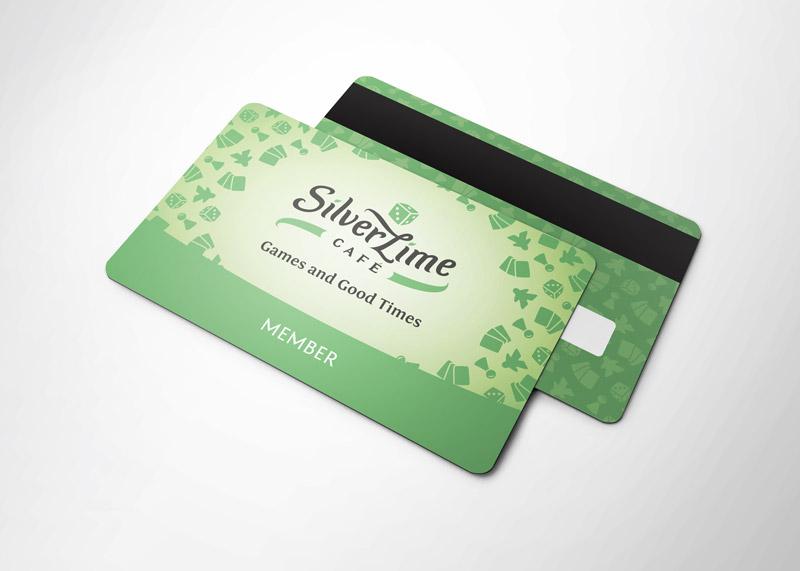 Silver Lime Cafe vizualni identitet - dizajn članskih iskaznica