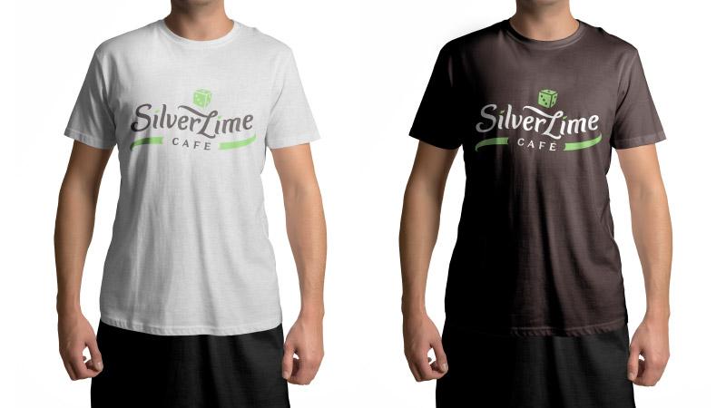 Silver Lime Cafe vizualni identitet - dizajn majica za zaposlenike