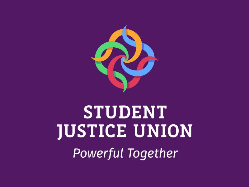 Student Justice Union logotip i slogan