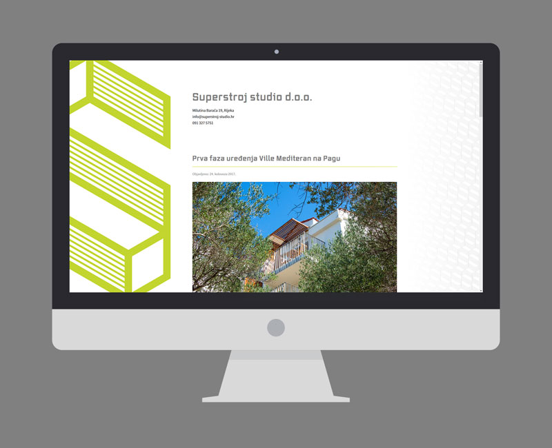 Superstroj studio WordPress web stranica