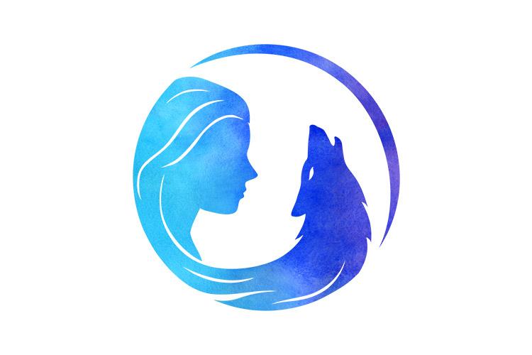 Wild Moon Spirit logo - simbol